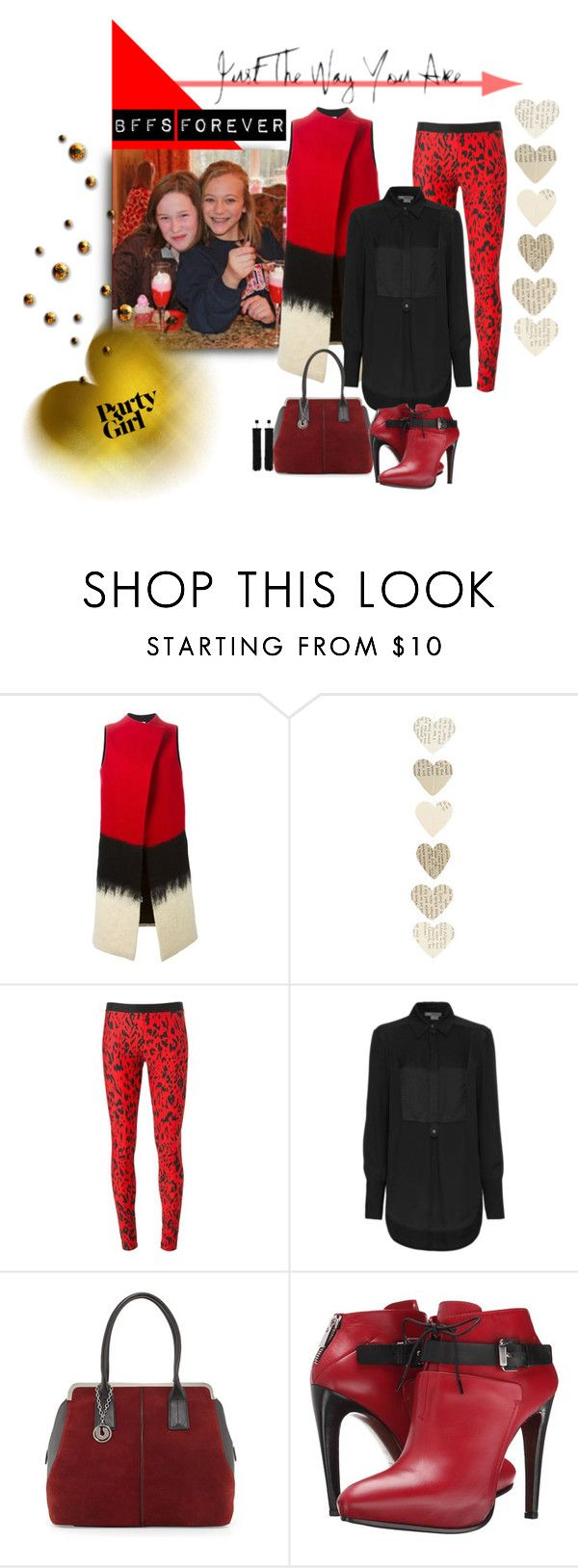 """""""BFFs Forever"""" by michelletheaflack ❤ liked on Polyvore featuring Sybilla, FAUSTO PUGLISI, Vince, Charles Jourdan, COSTUME NATIONAL, Tom Ford, women's clothing, women, female and woman"""