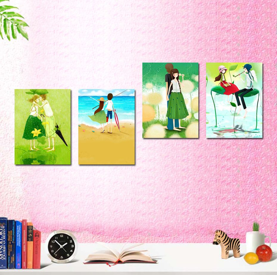 Free shipping 4 piece canvas wall art  Pink canvas wall painting Lovers wall art  Ladies abstract art  Fashion home decoration - http://www.aliexpress.com/item/Free-shipping-4-piece-canvas-wall-art-Pink-canvas-wall-painting-Lovers-wall-art-Ladies-abstract-art-Fashion-home-decoration/1406088660.html