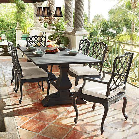 Brampton Outdoor 84 X 42 Rectangle Trestle Dining Table