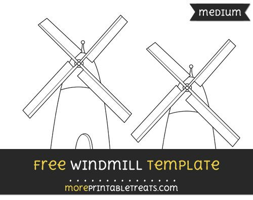 free windmill template medium shapes and templates printables