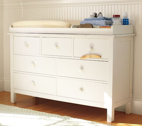 Kendall Extra Wide Dresser Changing Table Topper Pottery Barn Kids