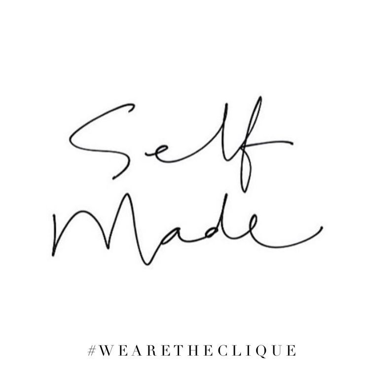 2 Word Quotes Self Made  Words Of Wisdom  Pinterest  Bossbabe Tattoo And .