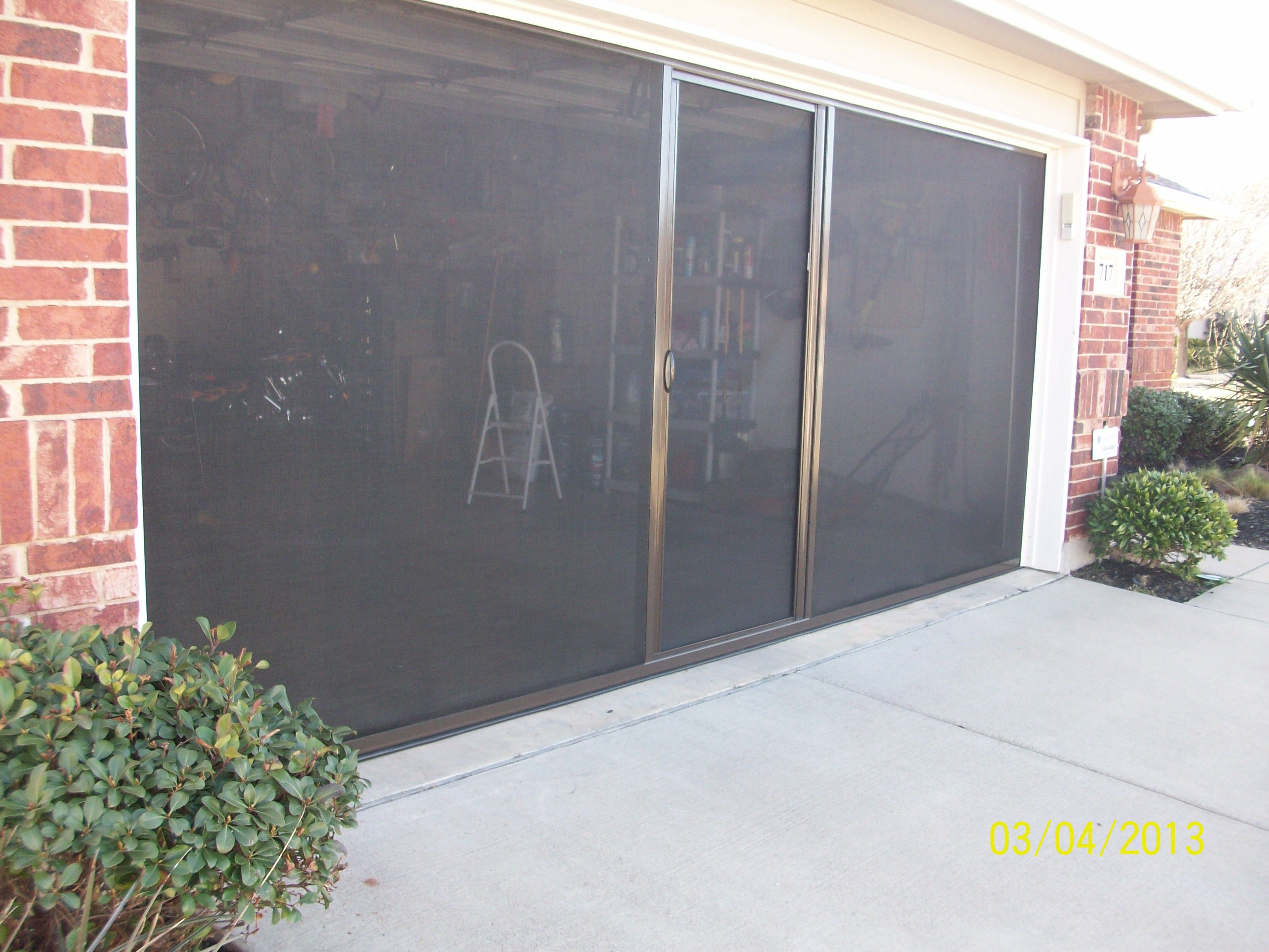 garage screens the lifestyle doors reinvents makeover for door interior screen retractable home garages decorating