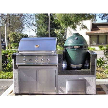 Signature Living Straight Custom Outdoor Kitchen S 07 Woodlanddirect Com Grilling Islands Kitchens