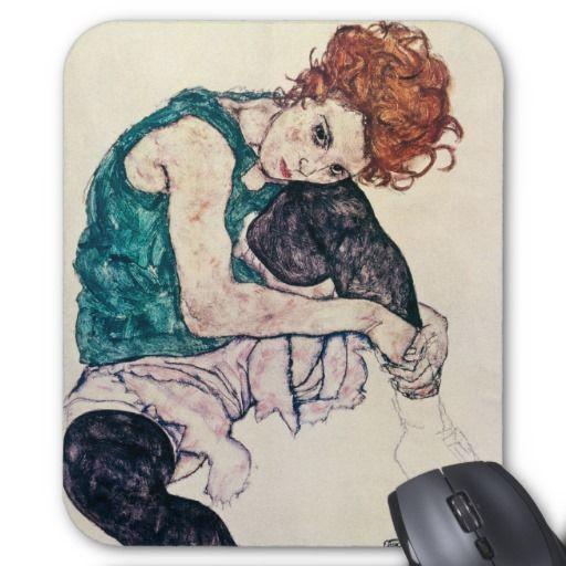 EgonSchiele Sitzfrauen-Mausunterlage