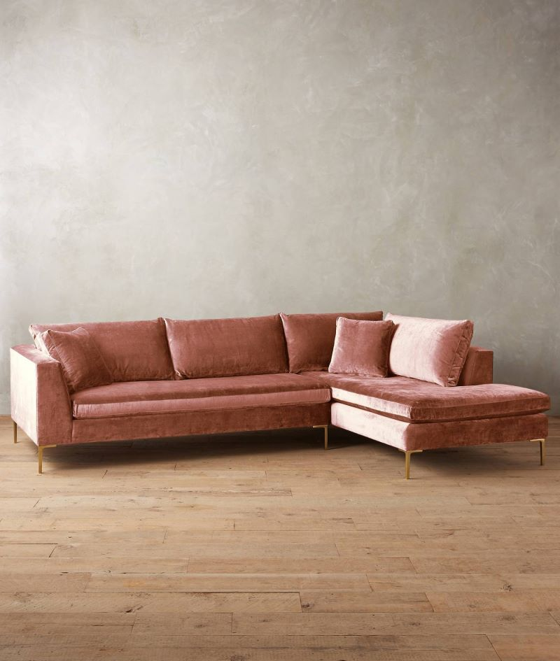 Room · Velvet sectional sofa from Anthropologie : velvet sectional - Sectionals, Sofas & Couches