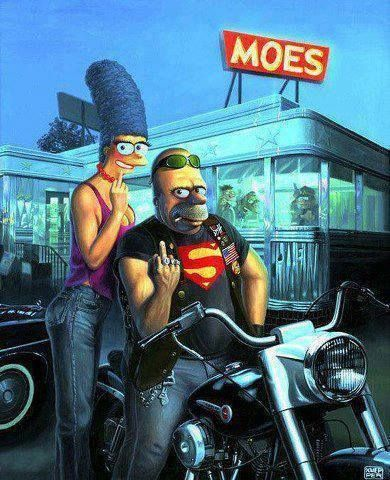 Pin By Amy Emke On The Simpsons Simpsons Art Biker Art Cartoon Art