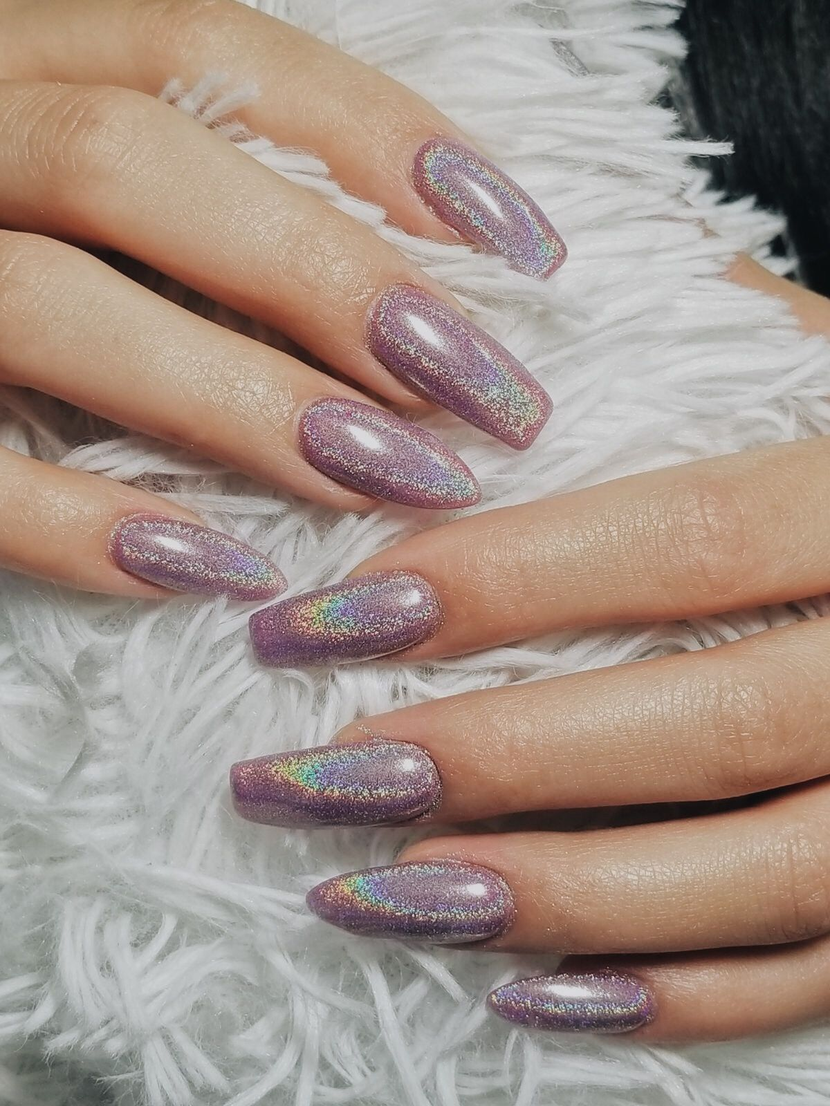 Holiday Nails. Different Nail Shapes. Holographic Nails