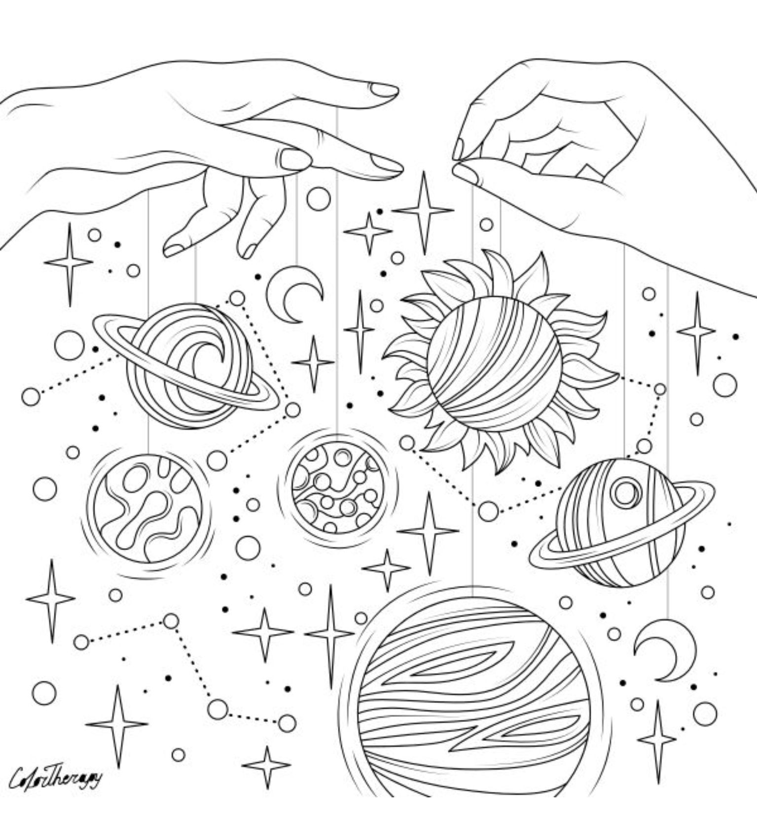 The Sneakpeek For The Next Gift Of The Day Tomorrow Do You Like This One Hands Holding Planet Coloring Pages Star Coloring Pages Space Coloring Pages