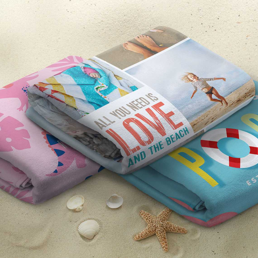 Personalised Beach Towel Small Beach Towels Homeware Gifts