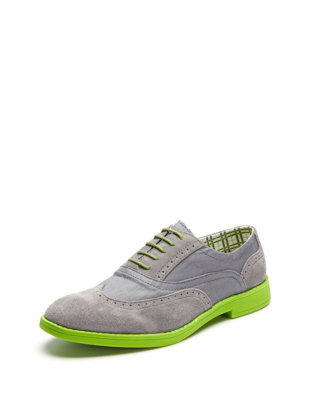 Suede and canvas wingtips by hey dude shoes at gilt hey