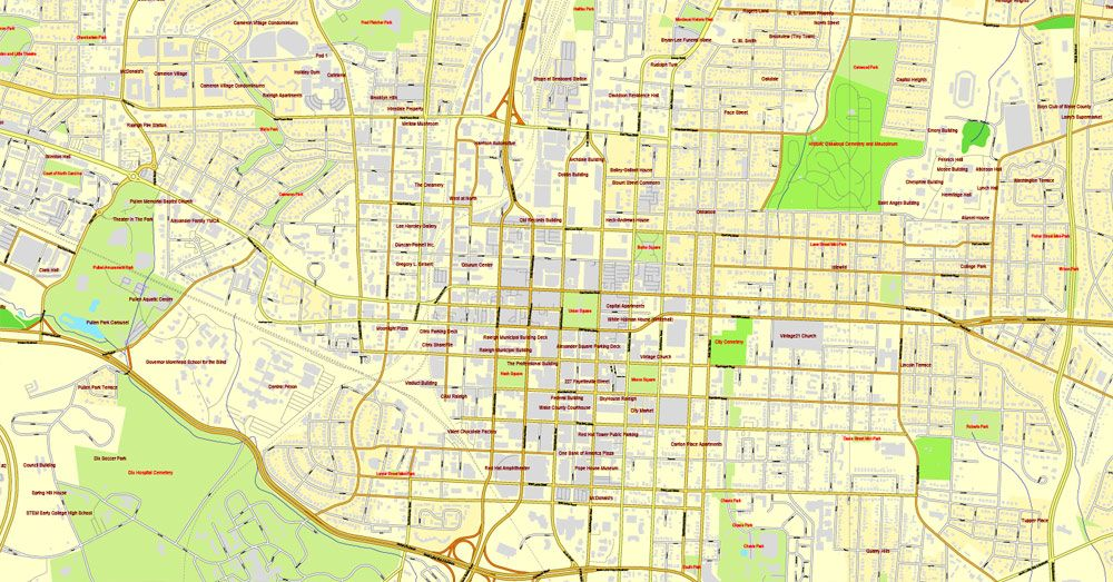 Raleigh Map, North Carolina, US, vector map Adobe PDF ... on map mooresville nc, map statesville nc, map salem nc, map salisbury nc, map nantahala national forest nc, map gastonia nc, map sanford nc, map dunn nc, map wilmington nc, map hickory nc, map charleston sc, map statesboro nc, map north carolina nc, map memphis tn, map wake county nc, map honolulu hi, map charlotte nc, map dublin nc, map houston tx, map greensboro nc,