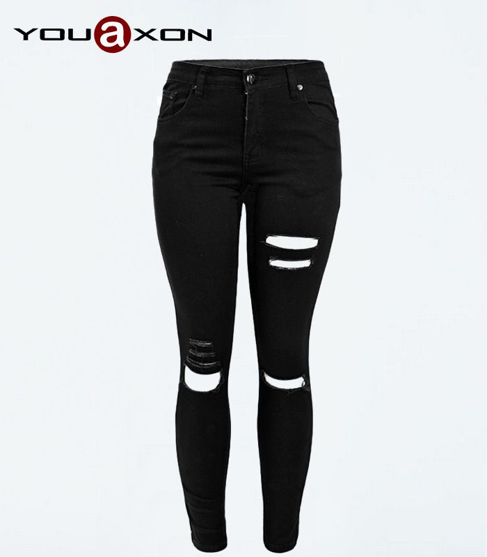 womens black denim jeans - Jean Yu Beauty