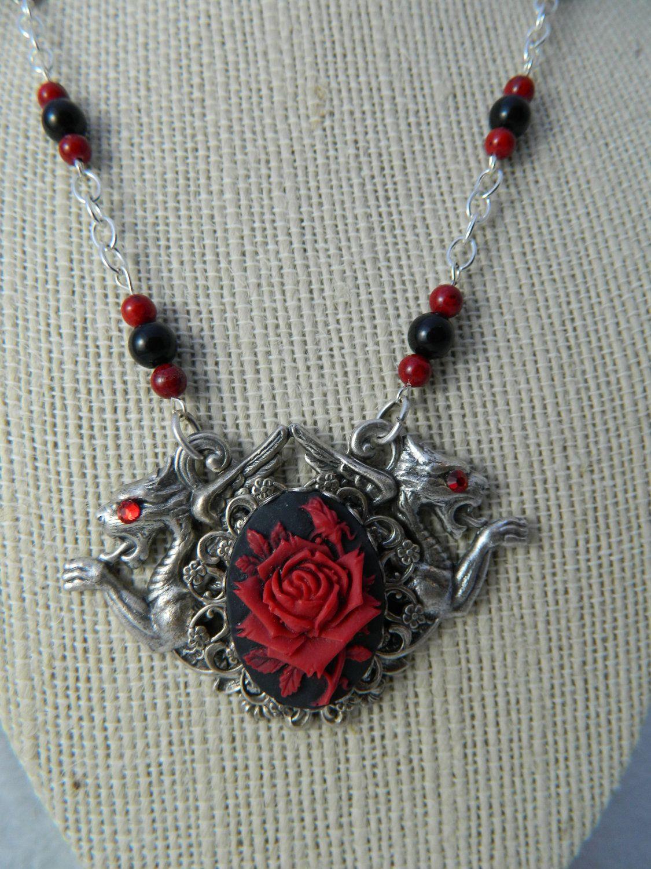 Dragon Rose Necklace by Christina Davis. $45.00, via Etsy ... - photo#50
