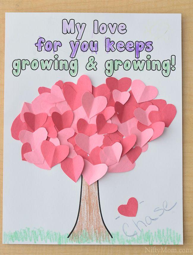 Heart Tree Craft For Kids Valentine S Day Valentine Crafts For