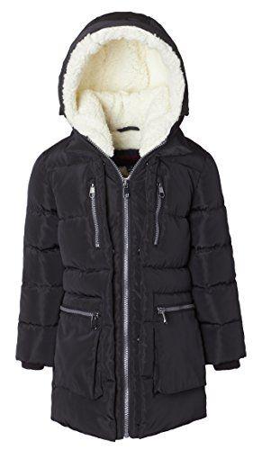 5f6226d02106 Sportoli Girls  Fleece Lined Heavy Quilted Fashion Detailed Jacket ...