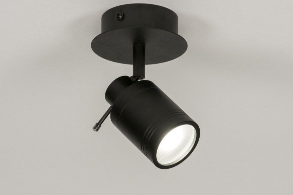 matte black ceiling lamp mat zwarte plafond bathroom lamp badkamer ...