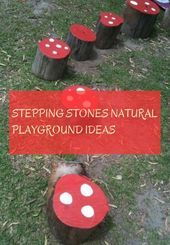 Stepping Stones natural playground ideas natural playground ideas of