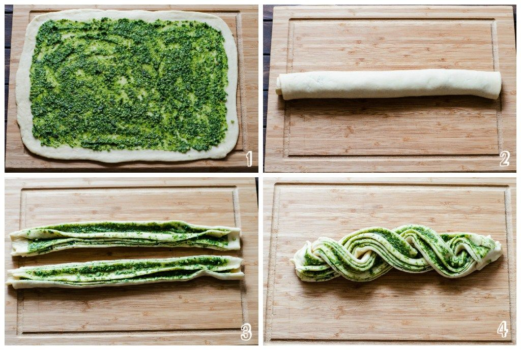Braided Pesto Bread step-by-step