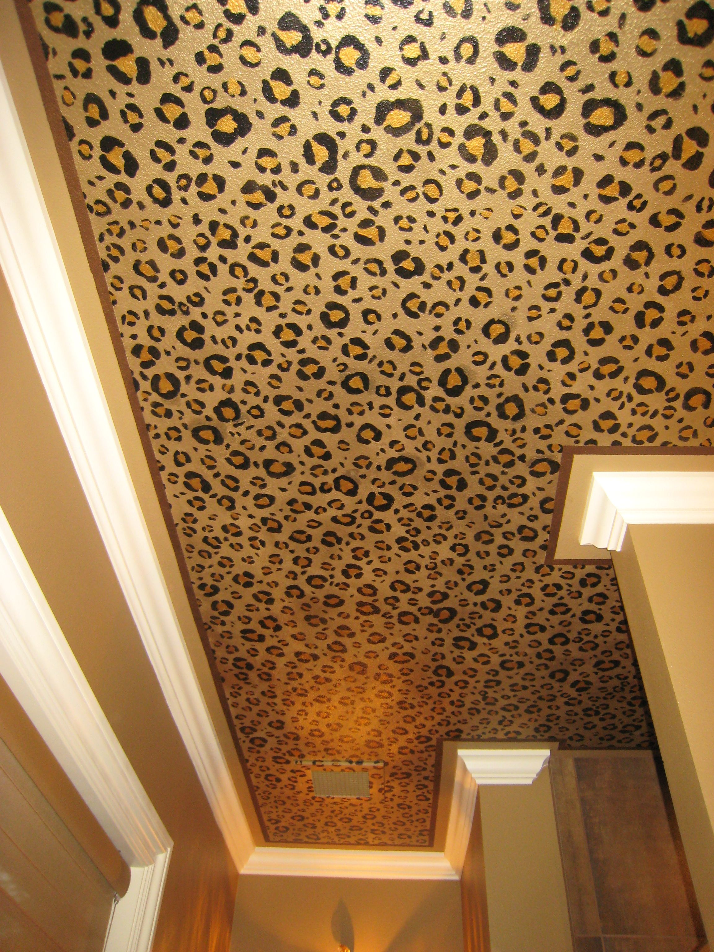 leopard ceiling for my future bachelorette pad hahaha