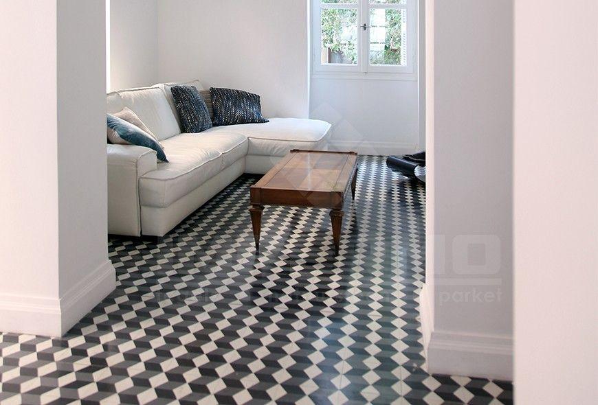 cementtegels, patroontegels, 3D-motief, retro, modern, trendy vloer ...