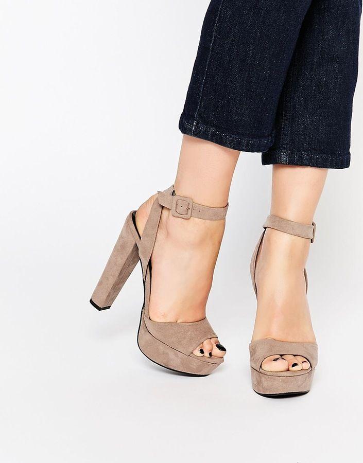 Call it SPRING Bosetti Taupe Platform Heeled Sandals  ShopStyle Women