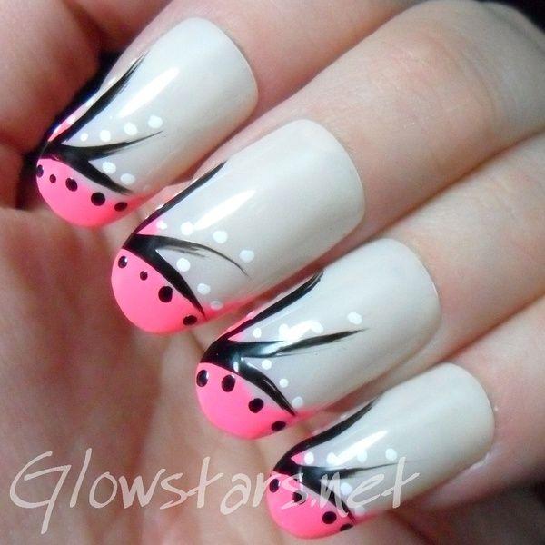 Pink Tip Nail Polish Design Nails Pinterest