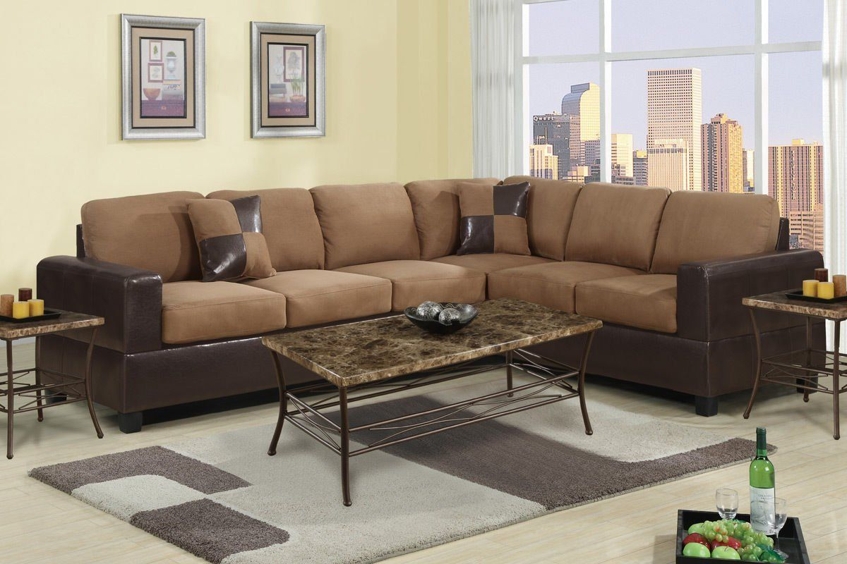 Tan Microfiber Sectional Sofa Sectional Sofas Sectional Sofa