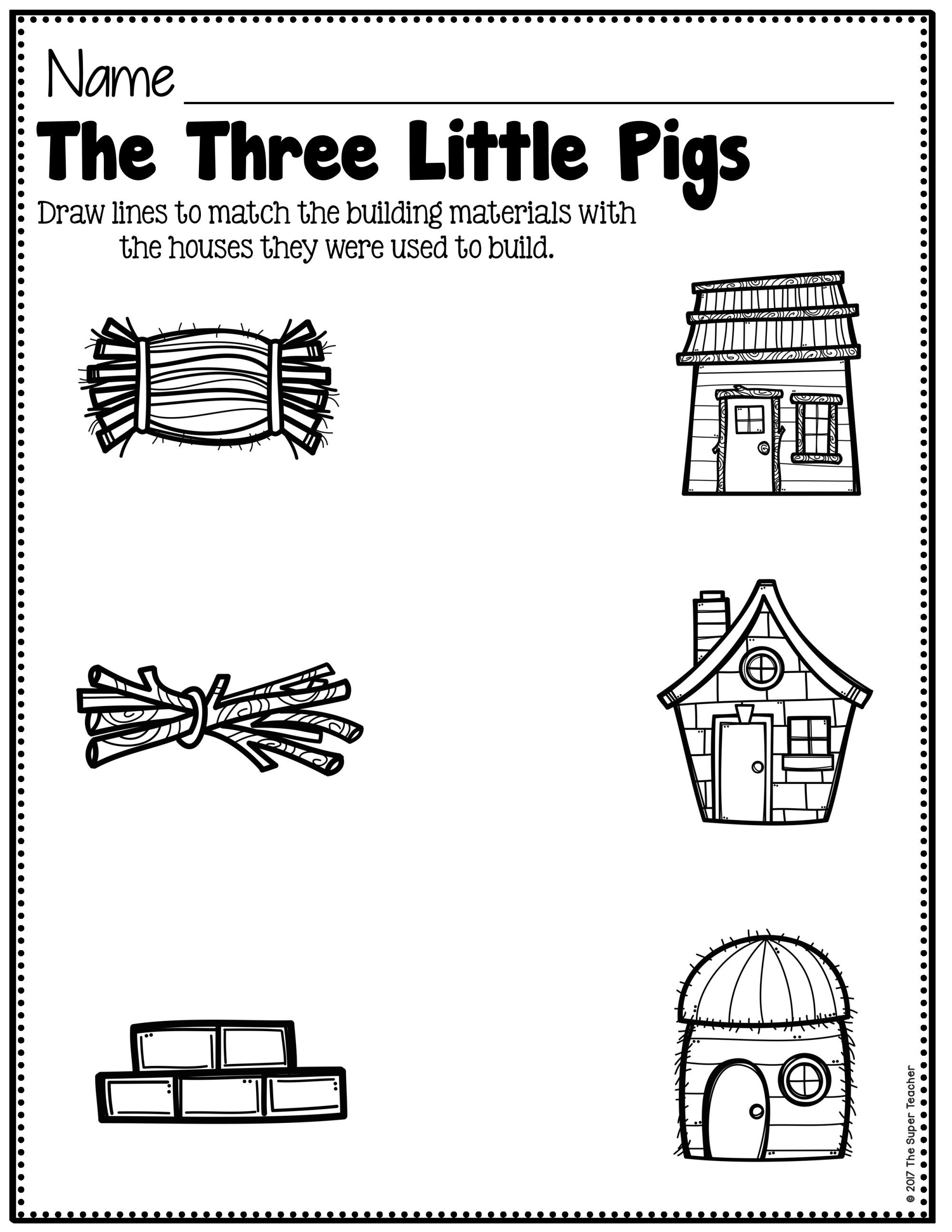 Simple Story Elements Made Practical And Fun Three Little Pigs Little Pigs Preschool Worksheets