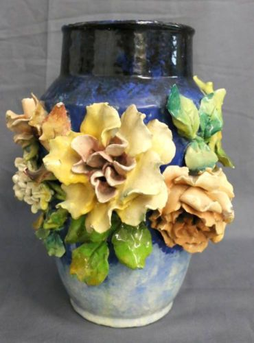 Antique 19th Century Longchamp Art Pottery Vase Made In