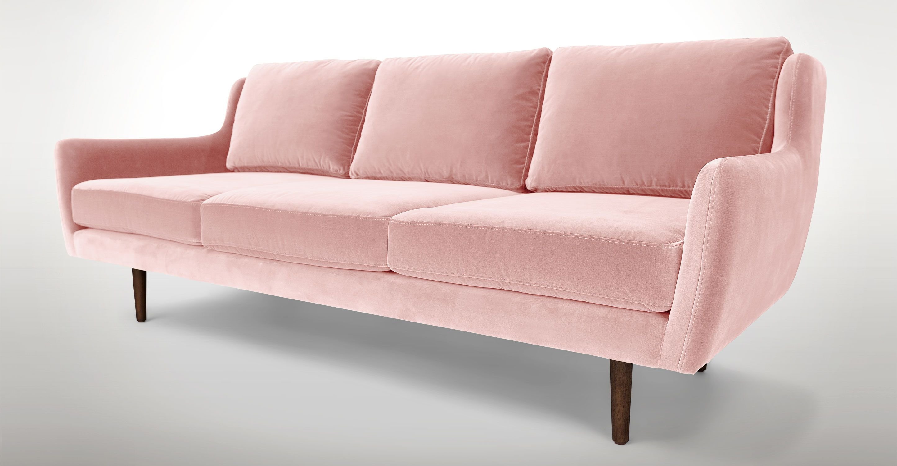 sofa article xv kijiji ottawa gatineau pink velvet walnut wood legs matrix
