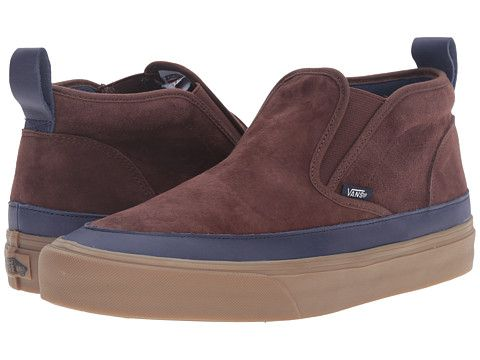 vans leather slip on sf