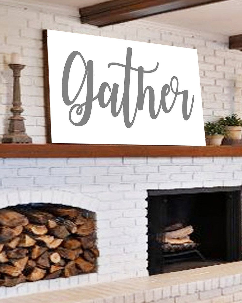 Large Gather Sign Home Decor In 2019