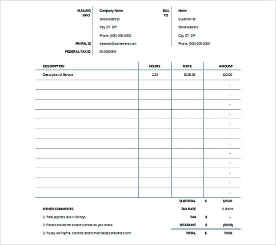 Create An Invoice In Excel Prepossessing Excel Invoicing Templatess  Microsoft Excel Invoice Template .
