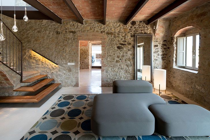 Modern design in an old stone farmhouse in Spain is part of Modern Design In An Old Stone Farmhouse In Spain E  B  D  D Be D  D Be  D B D B D B D B - This stunning stone villa in a quiet medieval village near Barcelona amazes in every way  First of all, you are amazed to see the magnificent stone facade ✌Pufikhomes  source of home inspiration