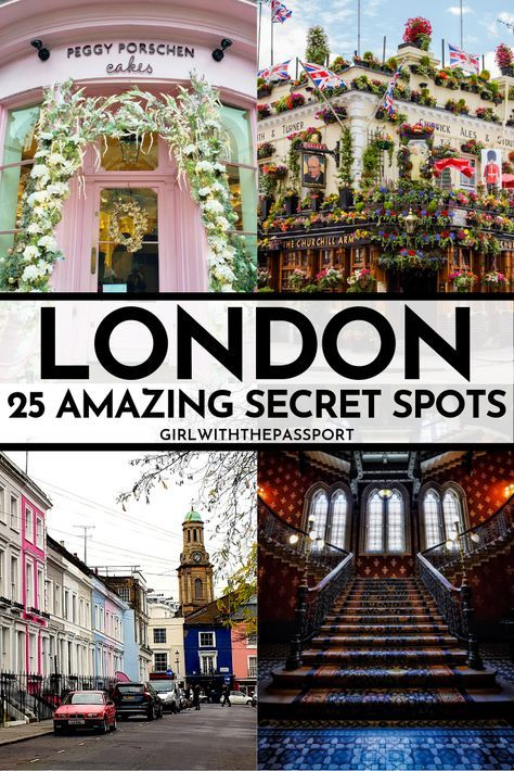 Between the museums, tea, enchanting parks, and beautiful buildings, London has so much to offer any visitor, if you know where to look. So check out my guide to 25 of the prettiest places in London and find out about all of the exquisite, secret spots in London that most tourists don't know about. #VisitLondon #LondonGuide #TravelLondon #LondonTrip
