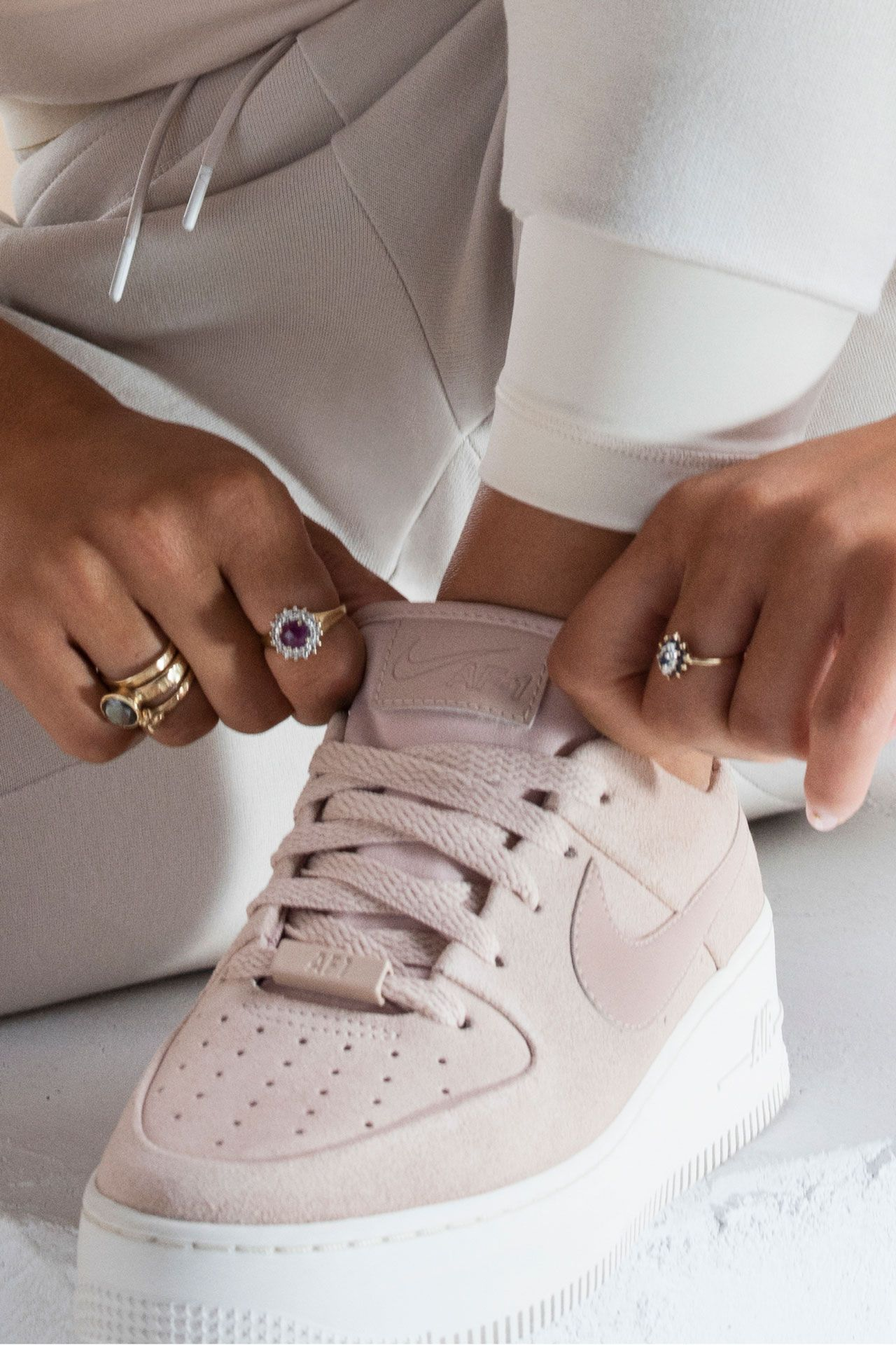 Nike S Senior Footwear Designer Louisa Page Shares The Inspiration Behind The Af1 Sage Low Sneakers Fashion Nike Air Nike Air Force