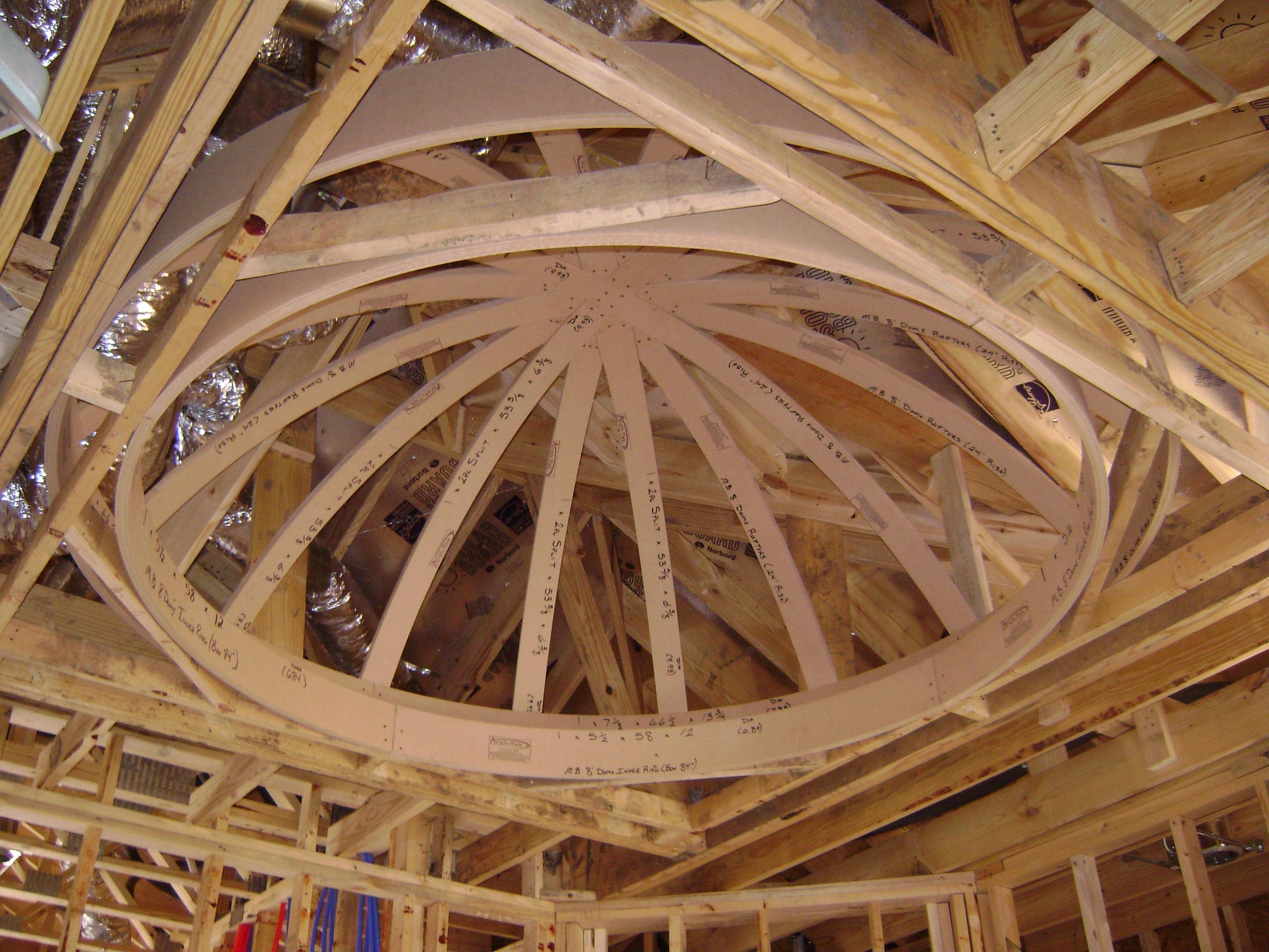 Archways Ceilings Made Easy Acme Dome Ceiling Framed In