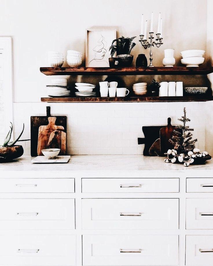 White Floating Shelves Kitchen: Floating Shelves, Shelves, White