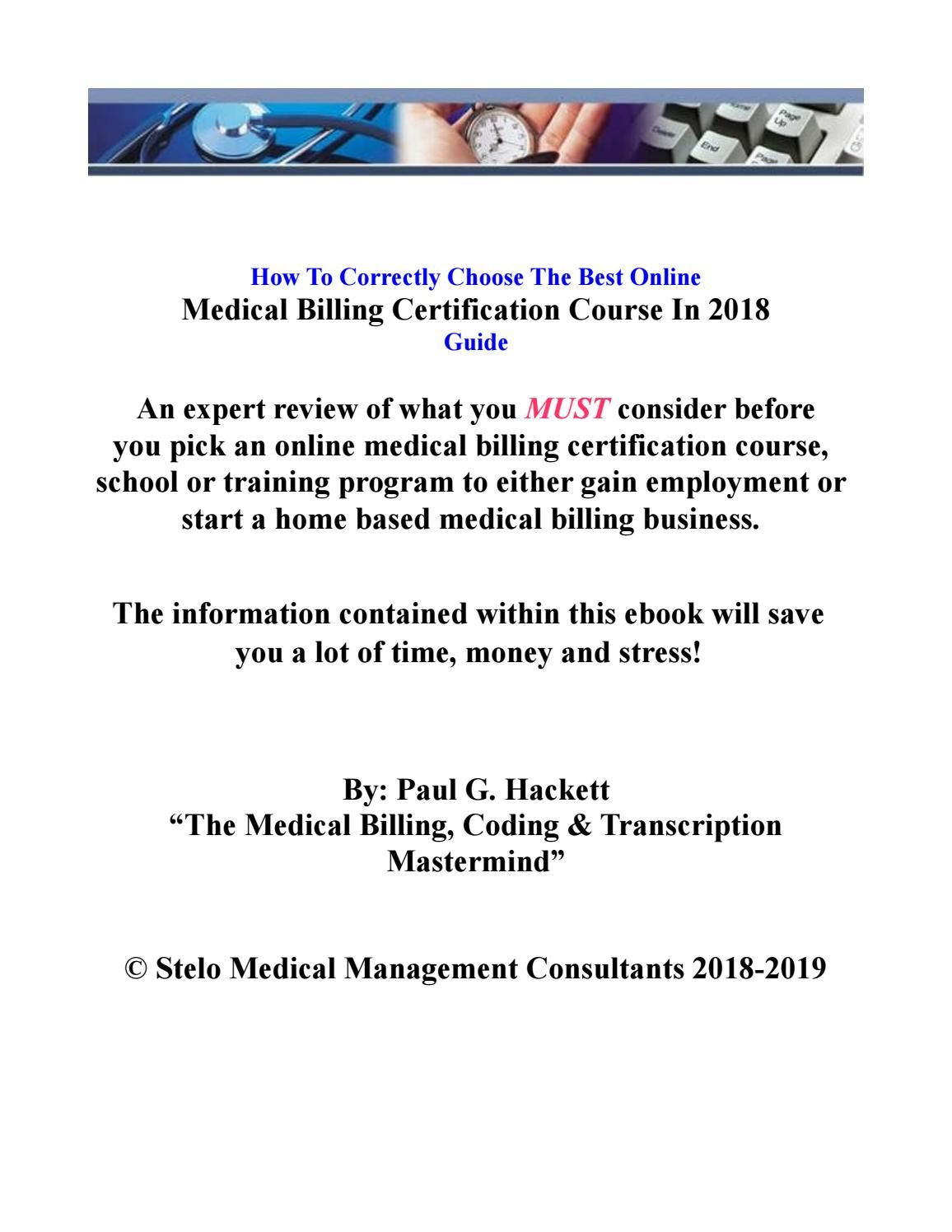 Medical Billing Online Courses Review 2018 Home Based Business