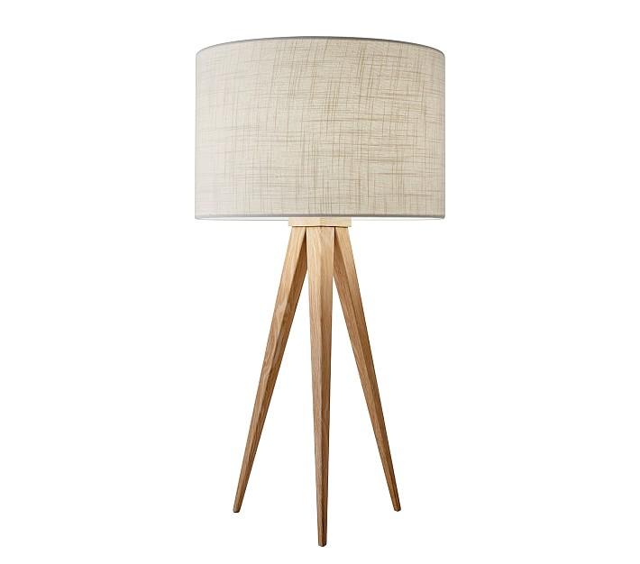 Director Table Lamp Lamp Natural Table Lamps White Lamp Shade