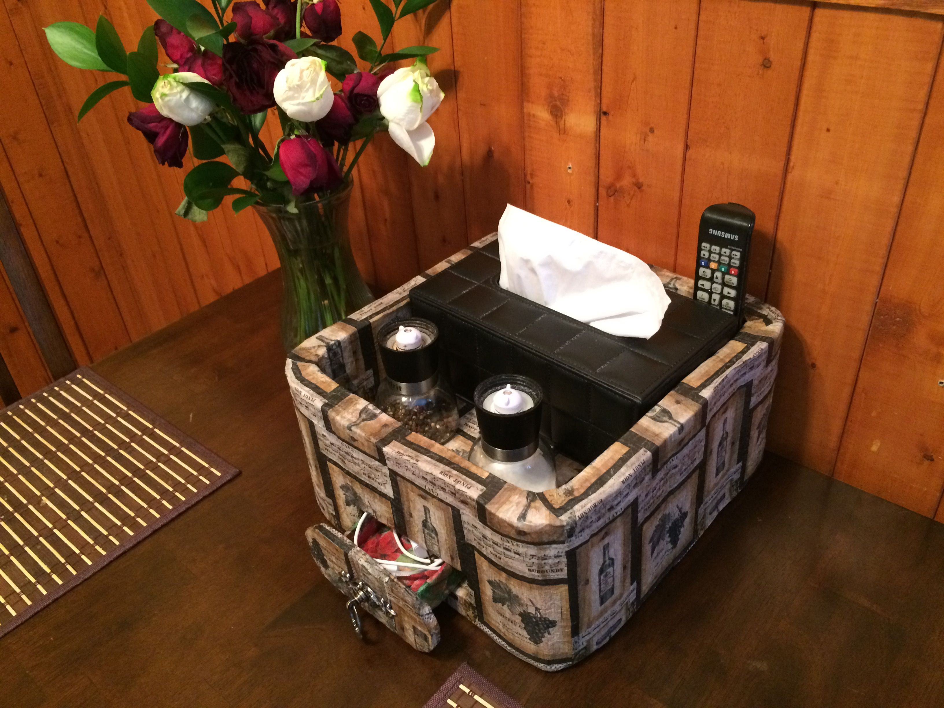 kitchen table caddy organization station container for a