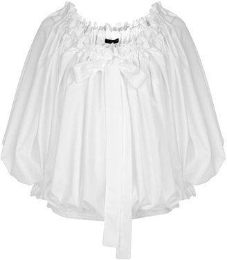 80fa6b48c605f6 ShopStyle: White Off-Shoulder Ruffle Blouse | POET BLOUSES/SHIRTS ...