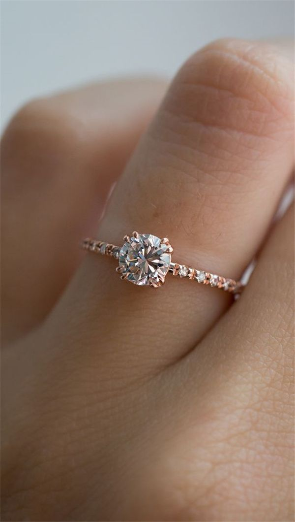 29 Most Popular Rose Gold Engagement Wedding Rings Worth Having Weddinginclude Rose Gold Engagement Ring Vintage Best Engagement Rings Simple Engagement Rings