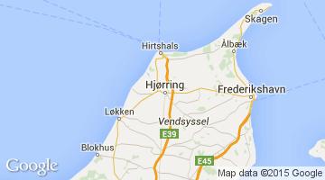 kart over hjørring Area map of Hjørring in Denmark | denmark   Hjørring | Pinterest  kart over hjørring