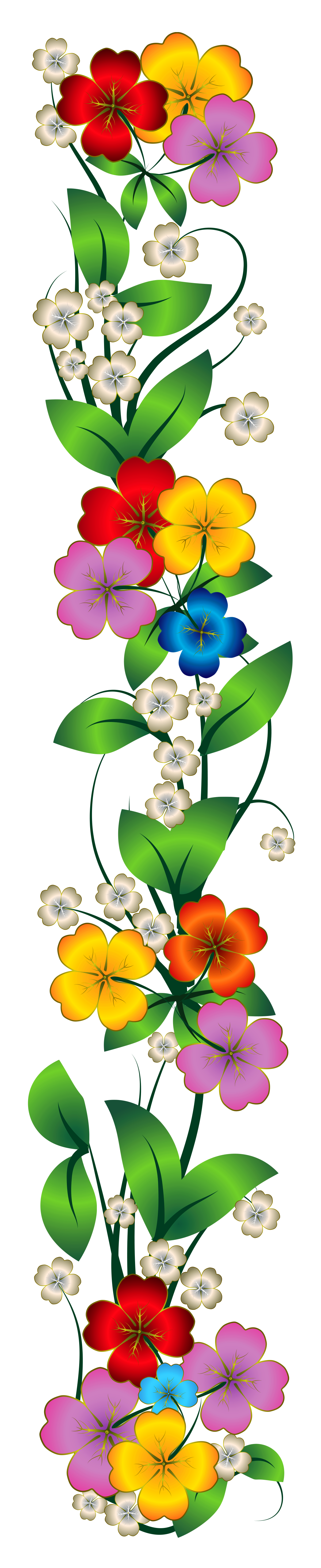 Flowers decor png clipart illustrations flowers for Decoration png