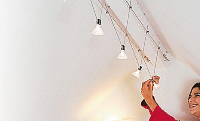 Poser des spots halogène sur un câble   Bricolage