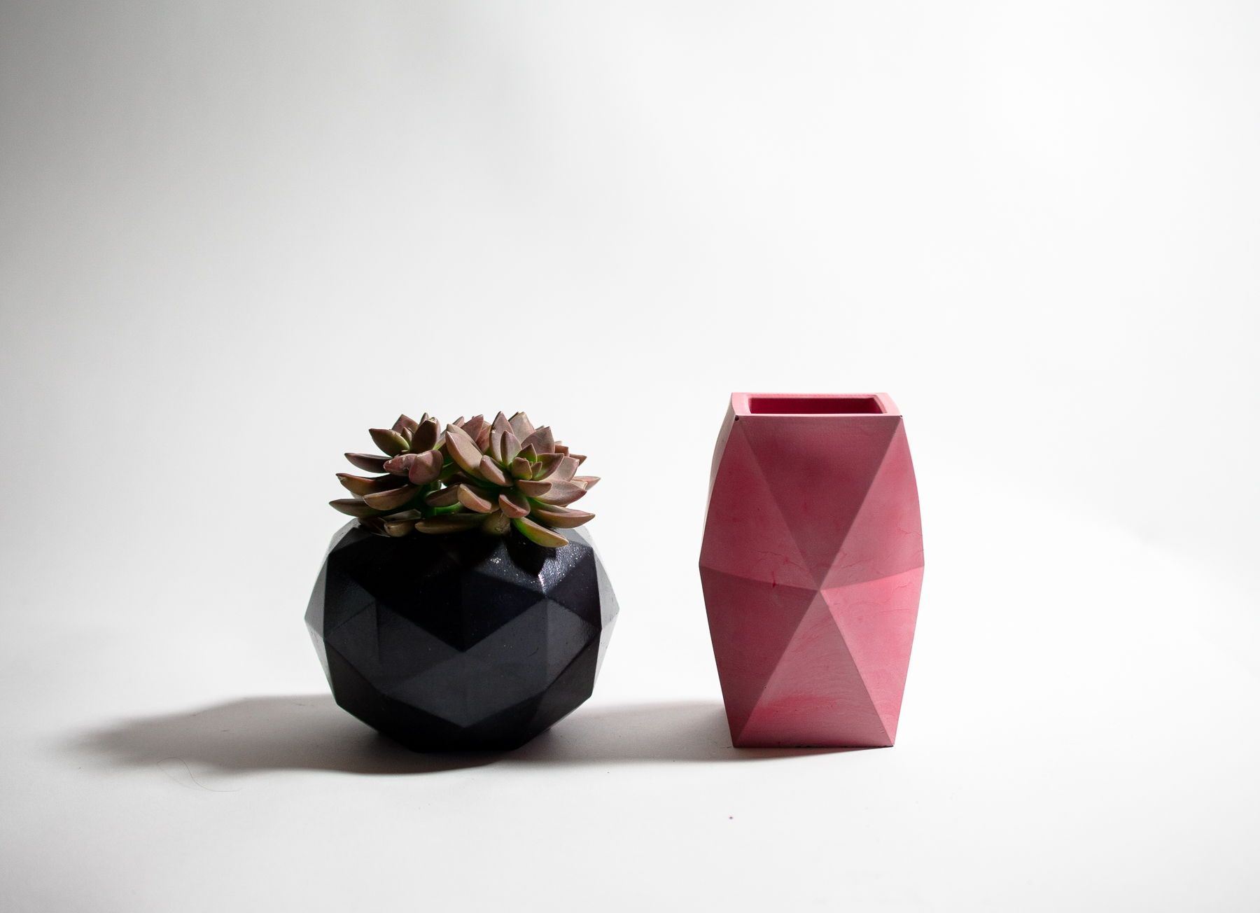 Concrete planters made from 100 reusable Silicone molds