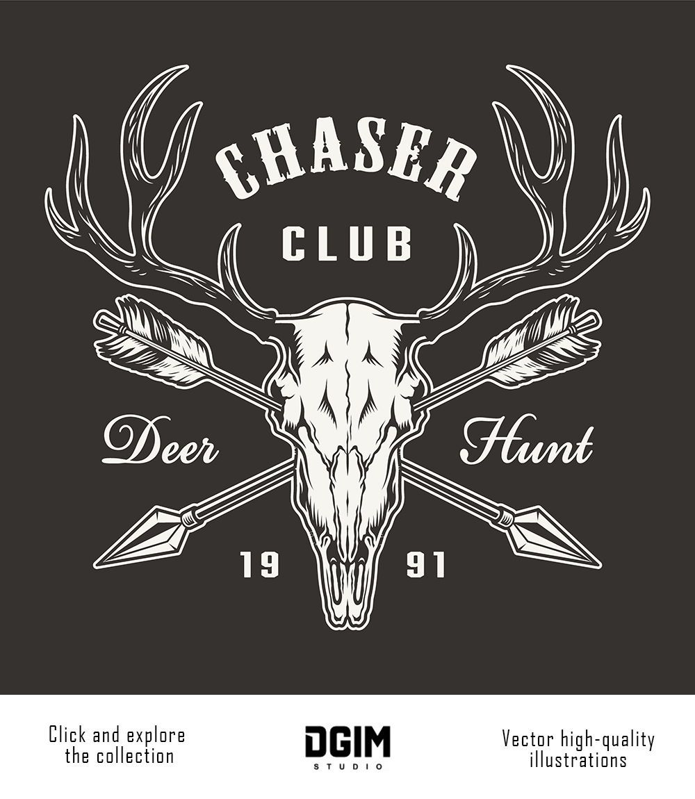 Vintage Hunting Emblems Set in 2020 Badge design, Vector