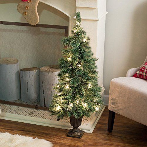 Deluxe Cashmere Pine Potted Pre-lit Christmas Tree Pre lit